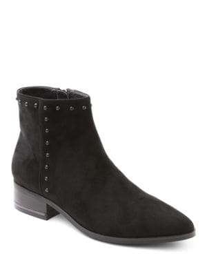 Francisco Microsuede Studded Ankle Boots by Kensie