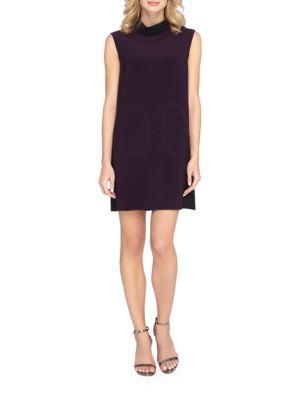 Colorblock Sleeveless Shift Dress by Tahari Arthur S. Levine