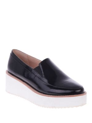 Tabbie Leather Platform Loafers by Sol Sana