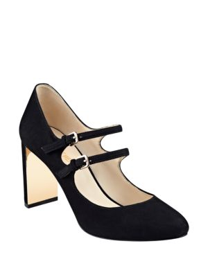 Photo of Academy Mary Jane Suede Pumps by Nine West - shop Nine West shoes sales