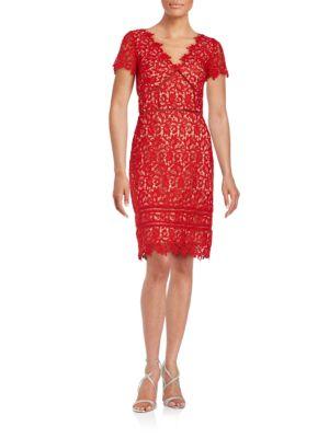 Lace Cutout Sheath Dress by Nue By Shani