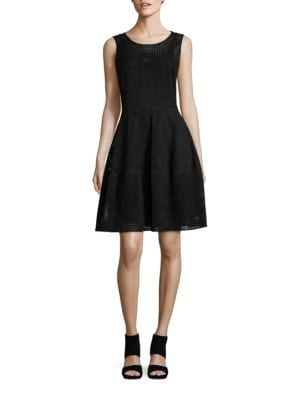 Faux Suede Laser-Cut A-Line Dress by Tommy Hilfiger