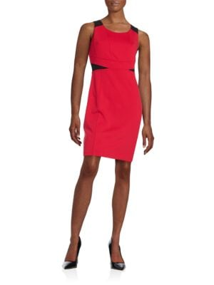 Darted Colorblocked Sheath Dress by Karl Lagerfeld Paris