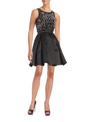Two-Piece Beaded Cocktail Dress by Xscape