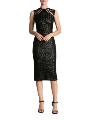 Gwen Strappy Sequin Midi Dress by Dress The Population