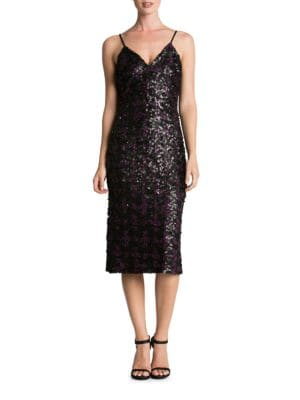 Nina Sequin Midi Slip Dress by Dress The Population