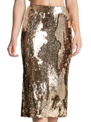Sasha Sequin Midi Skirt by Dress The Population