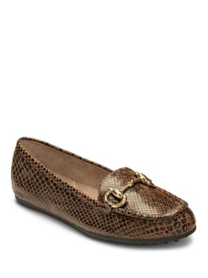 Drive Through Snake Printed Moccasins by Aerosoles