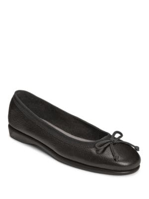 Fast Bet Bow Leather Flats by Aerosoles