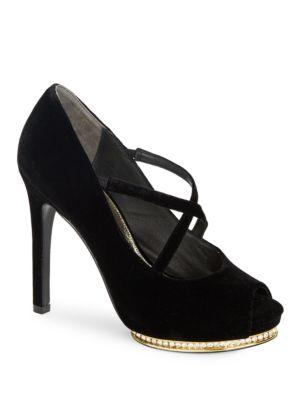 Golda Open-Toe Platform Heels by Adrianna Papell