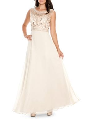 Embellished Bodice Gown by Decode 1.8