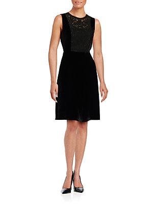 a64903989000b Elie Tahari - Jade Embellished Velvet Dress - lordandtaylor.com