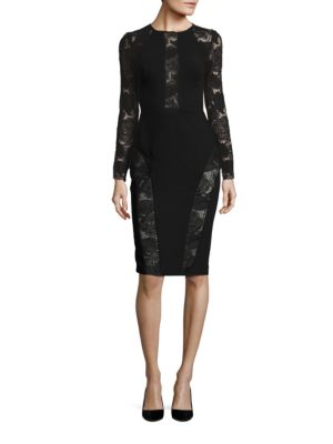 Lace-Trimmed Sheath Dress by Phase Eight
