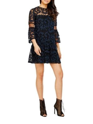 Three-Fourth Sleeve Lace Dress by Donna Morgan