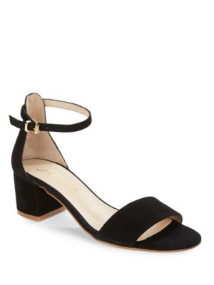 Marigold Suede Sandal Heels by Free People