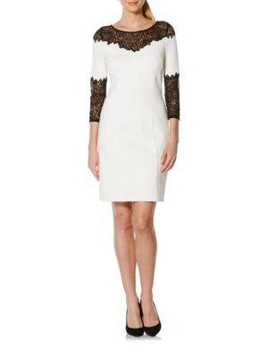 Lace Yoke A-Line Dress by Laundry by Shelli Segal