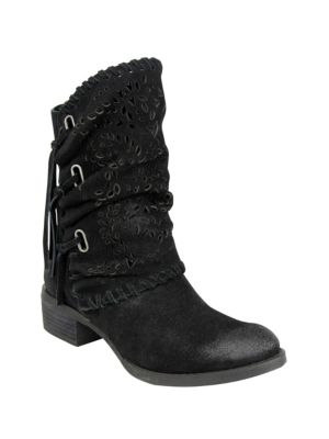 Vamp Phyer Suede Boots by Naughty Monkey