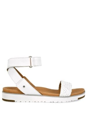 Laddie Leather Ankle Strap Sandals by UGG