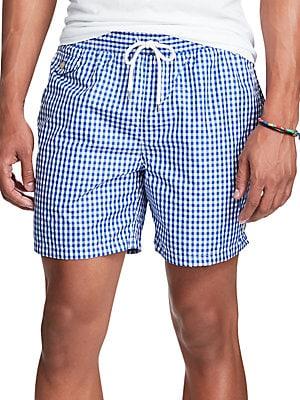 851efbcc10c84 Polo Ralph Lauren - Gingham Traveler Swim Shorts - lordandtaylor.com