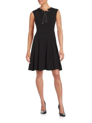 Solid A-Line Dress by Karl Lagerfeld Paris