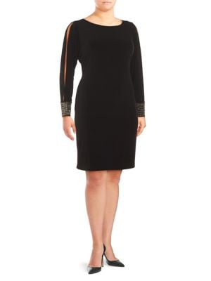 Embellished Cold-Shoulder Dress by Belle Badgley Mischka