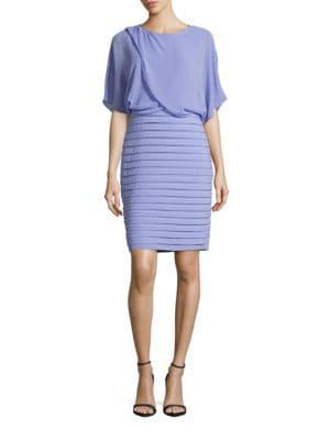 Draped Blouson Dress by Adrianna Papell