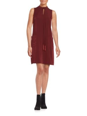 Sleeveless Tie-Neck Shift Dress by Erin Fetherston