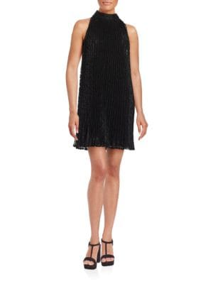 Pleated Lace Shift Dress by Erin Fetherston