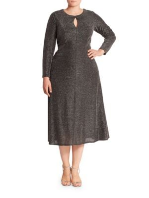 Long Sleeved Keyhole Dress by London Times