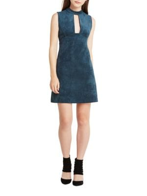 Faux-Suede Sleeveless Shift Dress by BCBGeneration