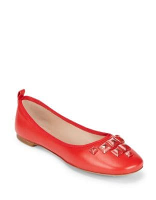 Cleo Studded Leather Ballet Flats by Marc Jacobs