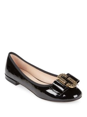 Interlock Patent Leather Ballet Flats by Marc Jacobs
