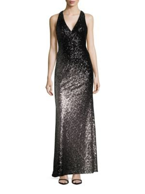 Sequined Ombre Gown by Xscape