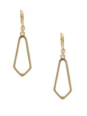 10K Gold-Plated Drop Earrings