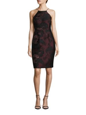 Lace Topped Halterneck Dress by Vera Wang