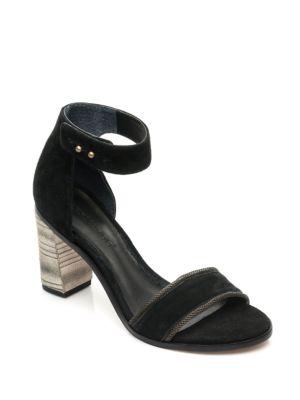 Hayden Suede Pattern Heel Sandals by Bernardo