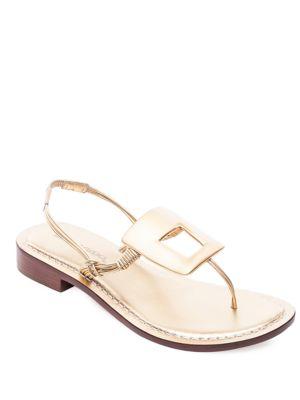 Triumph Metallic Leather Sandals by Bernardo