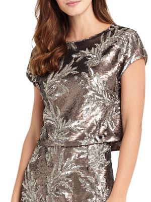 Patientia Sequined Top by Phase Eight