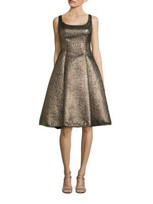 Metallic Midi Dress by Nicole Miller New York