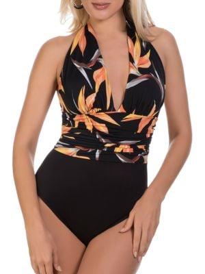 Paradise Halter V-neck One-Piece Swimsuit by Magicsuit
