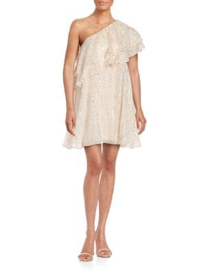 One-Shoulder A-Line Dress by Rachel Zoe