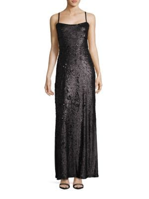 Gisselle Sequined Gown by BCBGMAXAZRIA