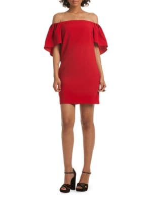 Zeal Off-The-Shoulder Cape Dress by Trina Turk
