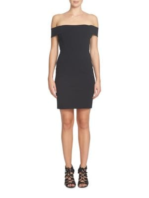 Margot Off-the-Shoulder Ponte Sheath Dress by Cynthia Steffe