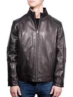 9a73a35630b QUICK VIEW. Boston Harbour. Leather Bomber Jacket
