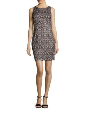 Sleeveless Lace Sheath Dress by Tahari Arthur S. Levine
