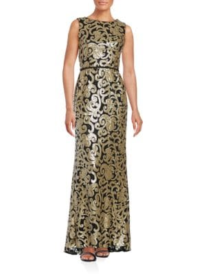 Sleeveless Sequined Gown by Vince Camuto