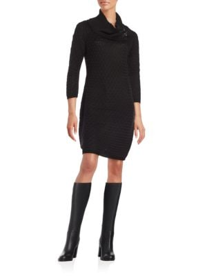 Cable-Knit Sweater Dress by Calvin Klein