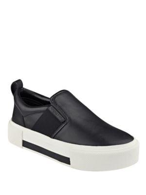 Tenley Leather Slip-On Flatform Sneakers by KENDALL + KYLIE