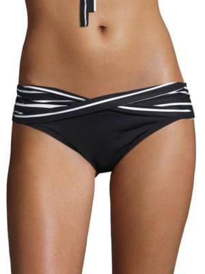 Serenity Striped Criss-Cross Hipster Bikini Bottoms by Coco Reef